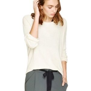 Wilfred Silk & Cashmere Ivory Light Sweater Small